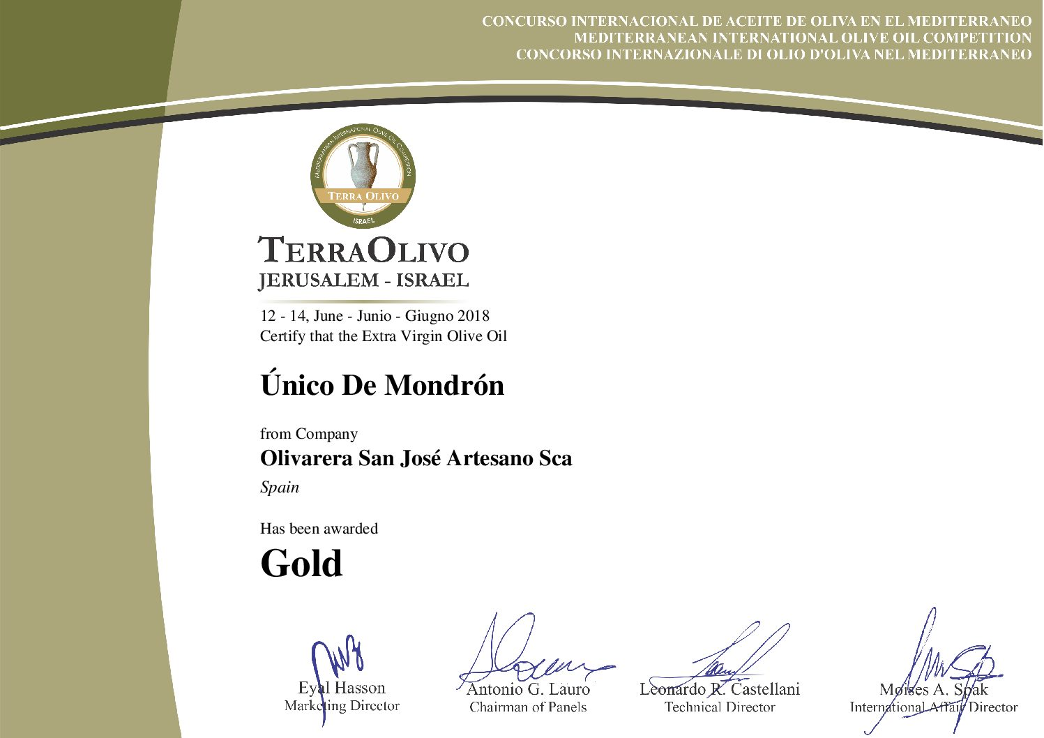Único de Mondrón - 500 ml Premium Olivenöl 1